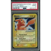 Pokemon EX Holon Phantoms Pikachu Gold Star 104/110 PSA 2