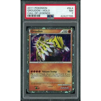 Pokemon Call of Legends Groudon SL4 PSA 7