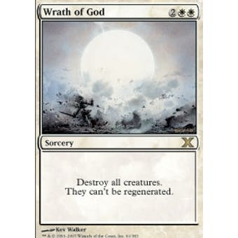 Magic the Gathering 10th Edition Single Wrath of God - NEAR MINT (NM)