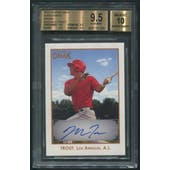 2011 TRISTAR Obak #A44 Mike Trout Brown Auto #42/50 BGS 9.5 (GEM MT)