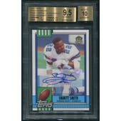2015 Topps 60th Anniversary #T60RAES Emmitt Smith Rookie Reprint Auto BGS 9.5 (GEM MT)