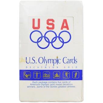 1991 Impel U.S. Olympic Decathlon Gold Multi Sport Hobby Box (Reed Buy)