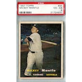 1957 Topps Baseball #95 Mickey Mantle PSA 4 (VG-EX) *4931