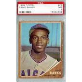 1962 Topps Baseball #25 Ernie Banks PSA 7 (NM) *4332