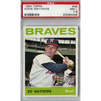 1964 Topps Baseball #35 Eddie Mathews PSA 7.5 (NM+) *5456