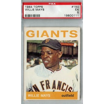 1964 Topps Baseball #150 Willie Mays PSA 5 (EX) *0111