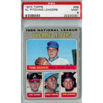 1970 Topps Baseball #69 NL Pitching Leaders PSA 9 (Mint) *0051