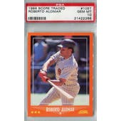 1988 Score Rookie/Traded Baseball #105T Roberto Alomar PSA 10 (Gem Mint) *2266