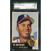 1953 Topps Baseball #37 Eddie Mathews SGC 55 (VG-EX+) *4001