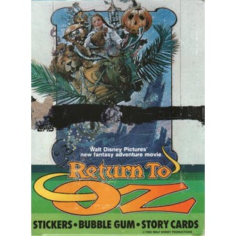Return to Oz Wax Box (1985 Topps)