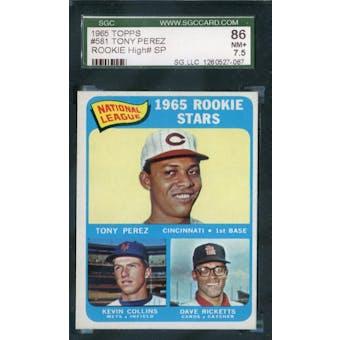 1965 Topps Baseball #581 Tony Perez SGC 86 (NM+) *7067
