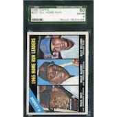 1966 Topps Baseball #217 NL Home Run Leaders SGC 80 (EX/NM) *4005