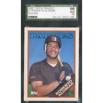1988 Topps Traded Baseball #4T Roberto Alomar SGC 98 (Gem) *1090