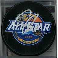 Connor McDavid Autographed 2018 All Star Hockey Puck (JSA COA)