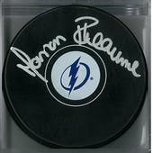 Manon Rheaume Autographed Tampa Bay Lightning Puck (MAB COA)
