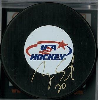 Ryan Suter Autographed Team USA Hockey Puck (DACW COA)