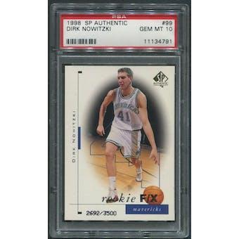 1998/99 SP Authentic #99 Dirk Nowitzki Rookie #2692/3500 PSA 10 (GEM MT)