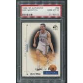 1998/99 SP Authentic #99 Dirk Nowitzki Rookie #1945/3500 PSA 10 (GEM MT)