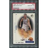 1998/99 SP Authentic #99 Dirk Nowitzki Rookie #1605/3500 PSA 10 (GEM MT)