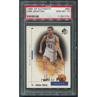 1998/99 SP Authentic #99 Dirk Nowitzki Rookie #2028/3500 PSA 10 (GEM MT)