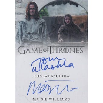 Game of Thrones Tom Wlaschiha/Maisie Williams Season 6 Dual Autographed Card (Rittenhouse) (Reed Buy)