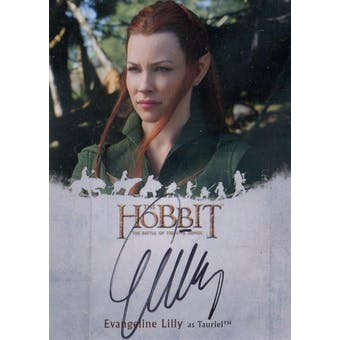 Evangeline Lilly The Hobbit Battle Five Armies Evangeline Lilly Autographed Card (Cryptozoic 2016) (Reed Buy)