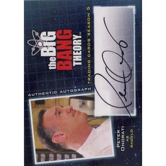 The Big Bang Theory Season 5 Peter Onorati Autograph (Cryptozoic 2013) (Reed Buy)