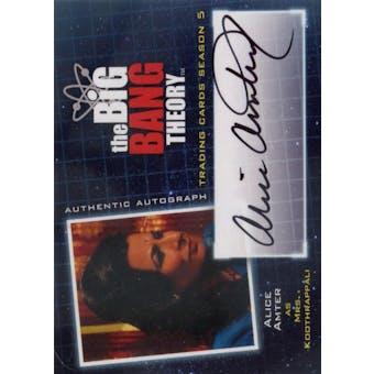The Big Bang Theory Season 5 Alice Amter Mrs. Koothrappali Autograph (Cryptozoic 2013) (Reed Buy)
