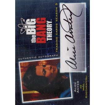 The Big Bang Theory Season 5 Alice Amter Mrs. Koothrappali Autograph (Cryptozoic 2013) (Reed Buy)
