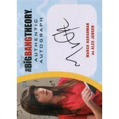 The Big Bang Theory Seasons 6 & 7 Margo Harshman Alex Jensen Autographed Card (Cryptozoic) (Reed Buy)