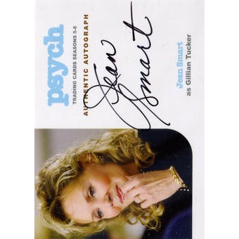 Psych Sesaons 5-8 Jean Smart Gillian Tucker Autographed Card (2015 Cryptozoic) (Reed Buy)