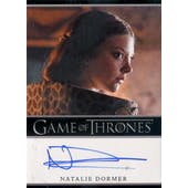 Game of Thrones Season 2 Natalie Dormer Margaery Tyrell Autographed Card (2012 Rittenhouse) (Reed Buy)