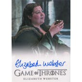 Game of Thrones Season 5 Elizabeth Webster Walda Bolton Autographed Card (2015 Rittenhouse) (Reed Buy)