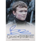Game of Thrones Sesaon 6 Brenock O'Connor Olly Autographed Card (2015 Rittenhouse) (Reed Buy)