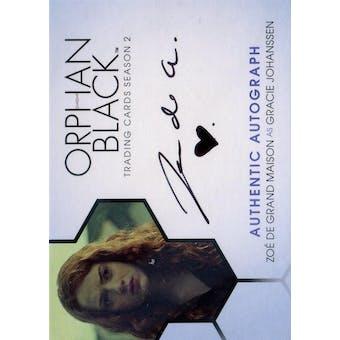 Orphan Black Zoe de Grand Maison Gracie Johanssen Autograph (2017 Cryptozoic) (Reed Buy)