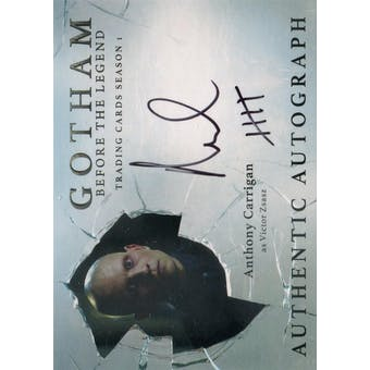 Gotham Season 1 Anthony Carrigan Victor Zsasz Autographed Card (Cryptozoic) (Reed Buy)
