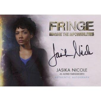 Fringe Season 1 & 2 Jasika Nicole Astrid Farnsworth Autographed Card (Cryptozoic) (Reed Buy)