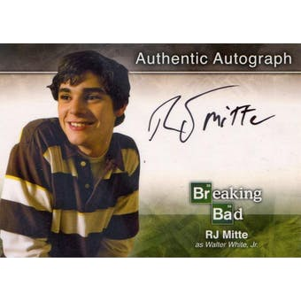 Breaking Bad RJ Mitte Walter White Jr. Autographed Card (2014 Cryptozoic) (Reed Buy)