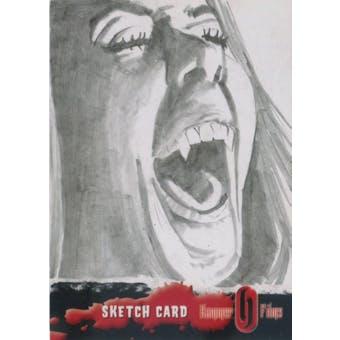 Hammer Horror Real Ink 2010 Strictly Ink Hammer Films Sketch Card 1/1 (Reed Buy)