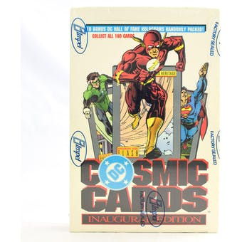 DC Cosmic Cards Hobby Box (1991 Impel) (Reed Buy)