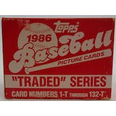 1986 Topps Traded & Rookies Baseball Factory Set (Reed Buy)
