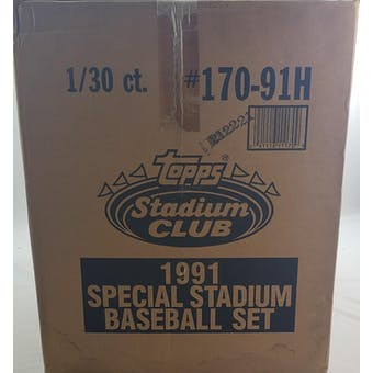 1991 Topps Stadium Club Dome Baseball Factory Set Case (Reed Buy)