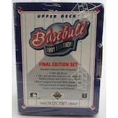 1991 Upper Deck Final Edition Baseball Factory Set (Lot of 5) (Reed Buy)