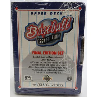 1991 Upper Deck Final Edition Baseball Factory Set (Lot of 5) (Reed Buy)