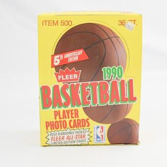 1990/91 Fleer Basketball Wax Box (Reed Buy)