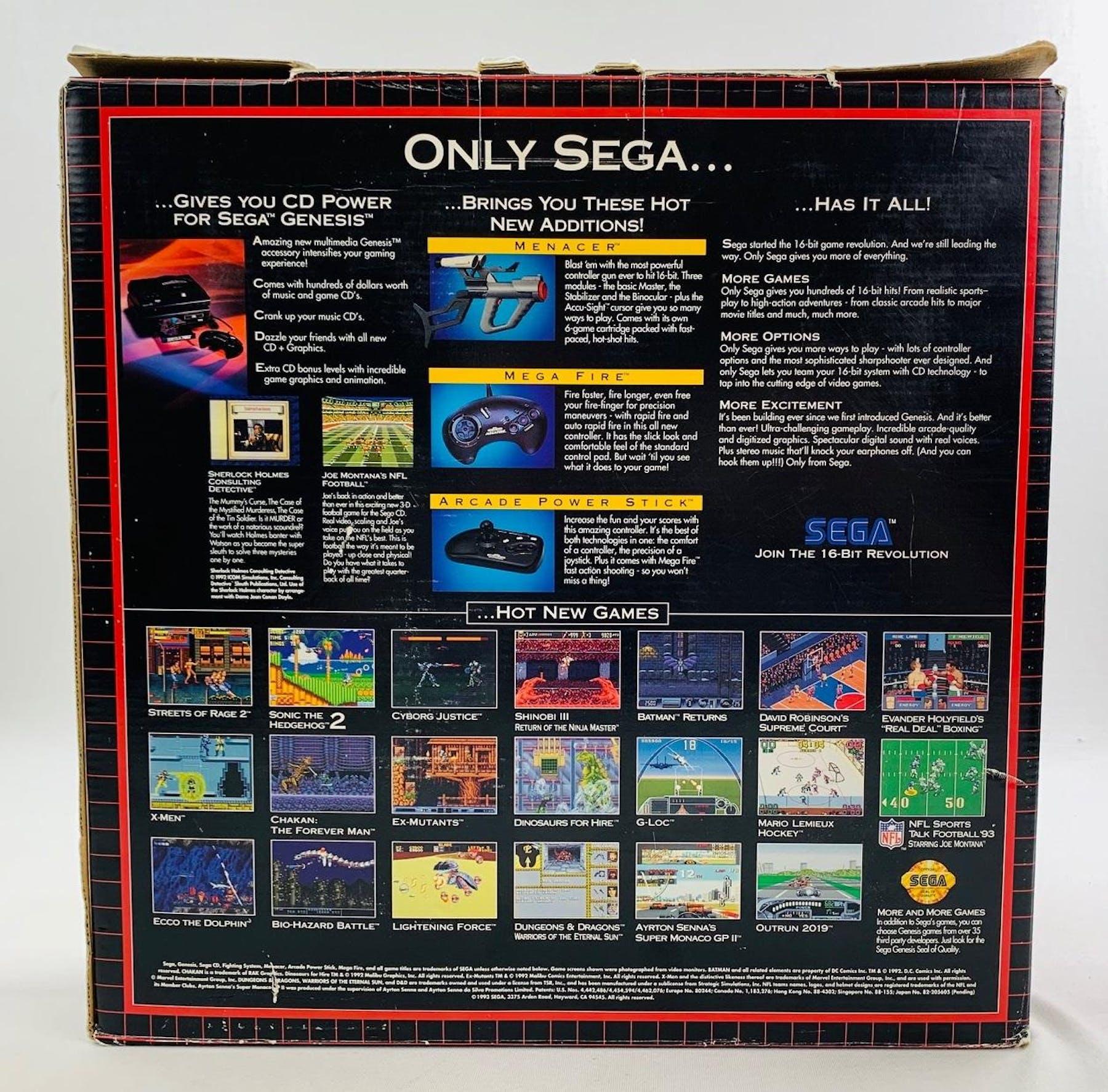Sega Genesis Console Streets of Rage 2 Bundle NEW CIB