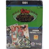 1991 Topps Stadium Club Football Wax Box BBCE FASC (Reed Buy)