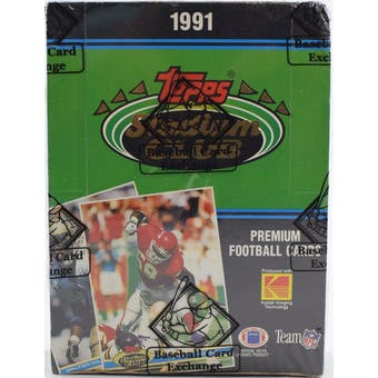 1991 Topps Stadium Club Football Wax Box BBCE FASC (Reed Buy)