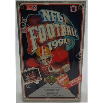1991 Upper Deck Low # Football Wax Box (Reed Buy)