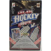 1990/91 Upper Deck French High Number Hockey Wax Box (Reed Buy)